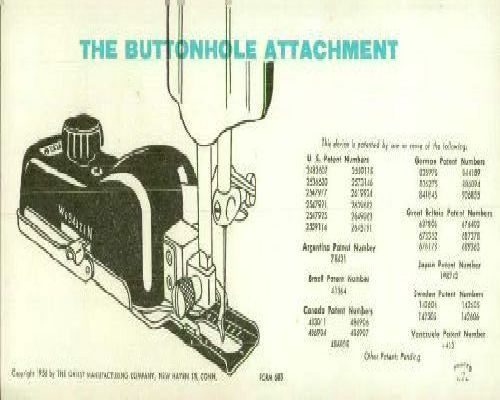 greist sewing machine attachments manual